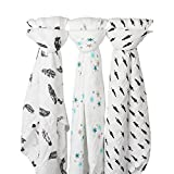 Baby Muslin Swaddle Breathable Multi-use Blanket,Safebet 100% Cotton,Perfect ...
